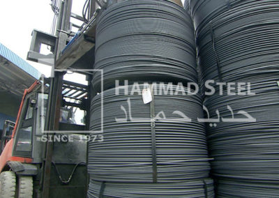 Coil of Steel Wire on Crane