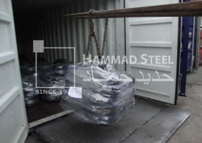 Heavy Crane Loading the Annealed Wire Coils in Container
